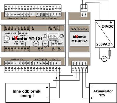 Miikroprocesorowy moduł podtrzymania zasilania MT-UPS-1