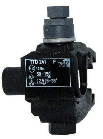 Zacisk dwustronnie przebijający izolację TTD 241 FTA (linia główna - 16-150 mm2; odgałęźna - (2,5)6-35 mm2)
