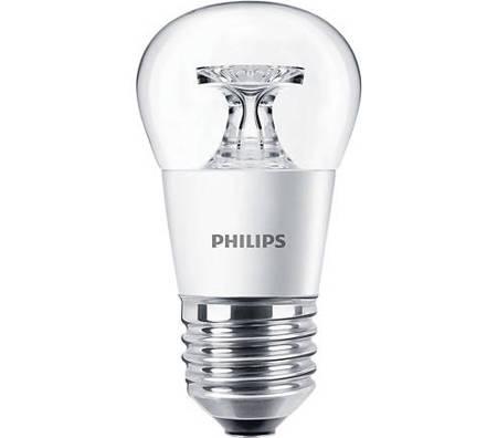 Żarówka LED Philips CorePro lustre 5,5-40W E27 827 470lm P45 Clear