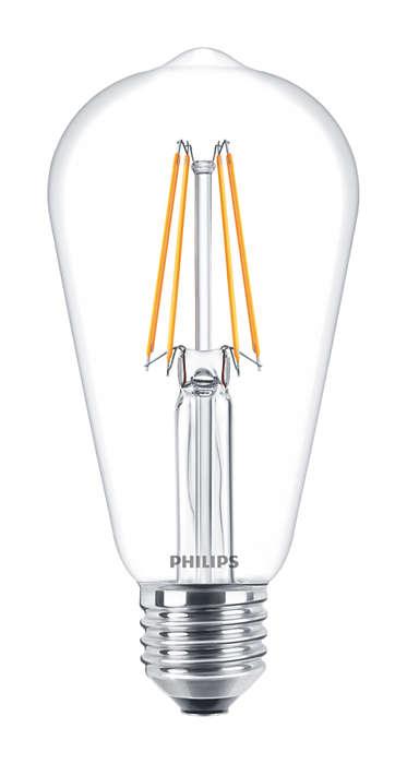 Żarówka Philips LED Classic LEDBulb ND 6-60W ST64 E27 2700K 806lm CL filament